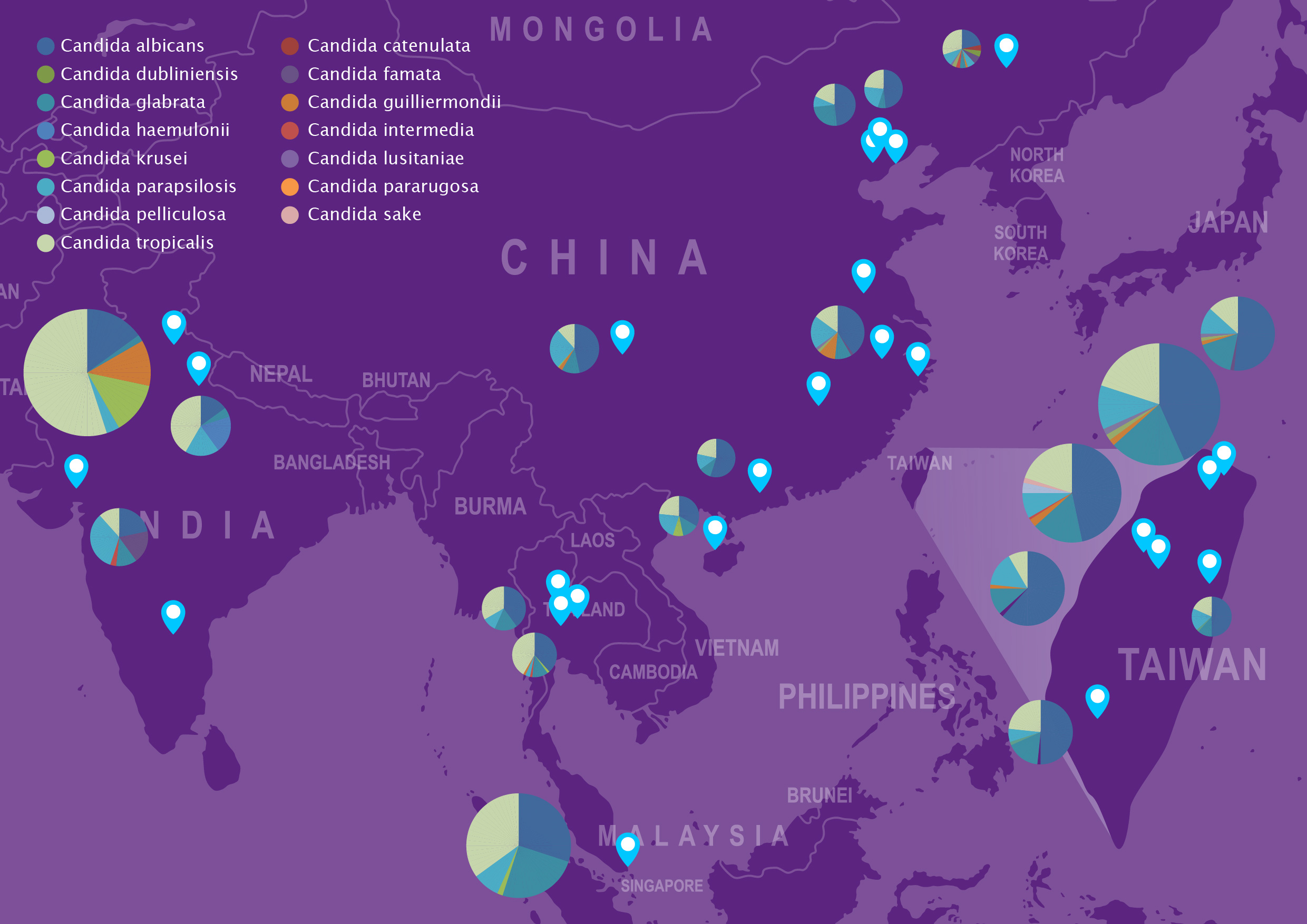 AFWG_Candidemia_Asia_Data_Map_2